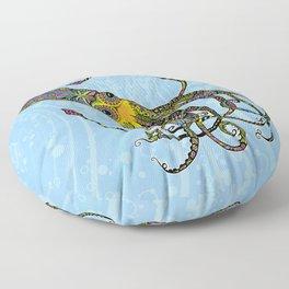 Electric Squid Floor Pillow