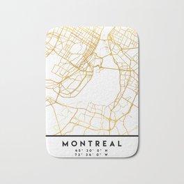 MONTREAL CANADA CITY STREET MAP ART Bath Mat
