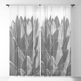 Agave Chic #2 #succulent #decor #art #society6 Sheer Curtain