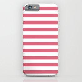 Large Nantucket Red Horizontal Sailor StripesLarge Nantucket Red Horizontal Sailor Stripes iPhone Case