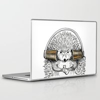 hedgehog Laptop & iPad Skins featuring Hedgehog by Emily Dere