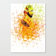 Man tattoo Canvas Print
