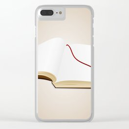 Open book Clear iPhone Case