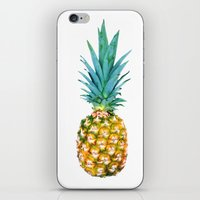pineapples iPhone & iPod Skins featuring Pineapples by Yilan