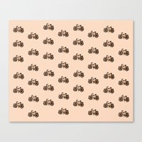 bikes Canvas Prints featuring Bikes by andy_panda_