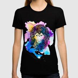 Modern watercolor mandala lion illustration T-shirt