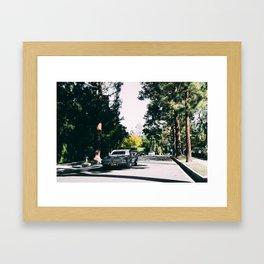 Los Angeles street Framed Art Print