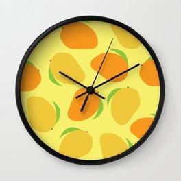 Mango Pattern Wall Clock