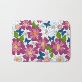 Colorful floral pattern . Retro. Bath Mat