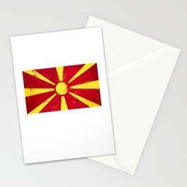 Macedonia Flag design | Macedonian design Stationery Cards