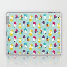 Ice cream pattern - light blue Laptop & iPad Skin