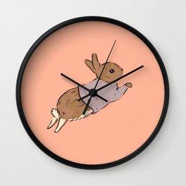 Jumping Bunny Wall Clock