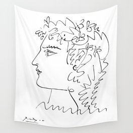 Profil de femme (Woman Side Face) Reproduction Sketch, Pablo Picasso Artwork, tshirt, tee, jersey, p Wall Tapestry
