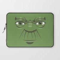 starwars Laptop Sleeves featuring Yoda - Starwars by Alex Patterson AKA frigopie76