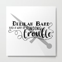 Finding Trouble (on light) Metal Print