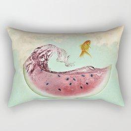 watermelon goldfish 02 Rectangular Pillow