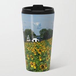 Sunflower Farm  - Pope Farm Conservancy, Wisconsin Travel Mug