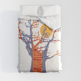 African Baobab tree of life at Sunset Comforters