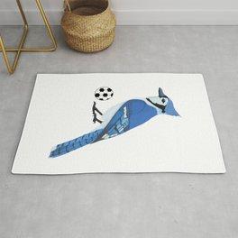 Soccer Blue Jay Rug