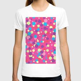 Seamless pattern with color circles. Polka dot. T-shirt