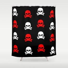 skull pattern Shower Curtain