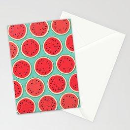 watermelon polka mint Stationery Cards