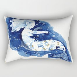 blue and gold waters Rectangular Pillow