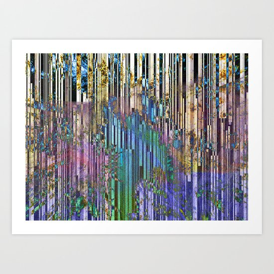 tree barcode stripes Art Print