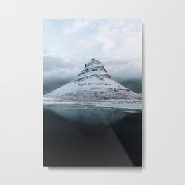 Kirkjufell Mountain in Iceland - Landscape Photography Metal Print