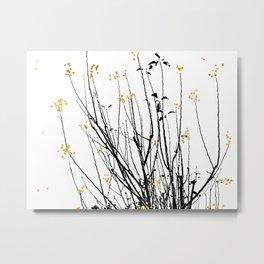 Gold Tree Metal Print