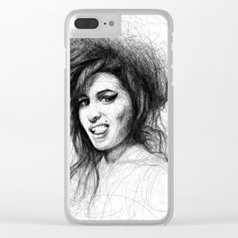 Amy Portrait Clear iPhone Case