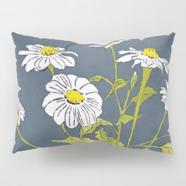 White Mexican Sunflowers Pillow Sham