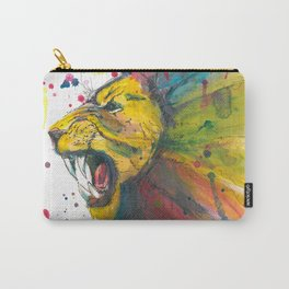 Lion - Watercolor Painting Carry-All Pouch