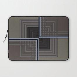 Biege Modern Block Design Laptop Sleeve