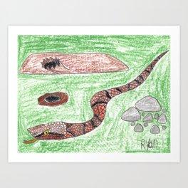 Copperhead! Art Print
