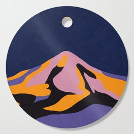 Over The Sunset Mountains II Cutting Board