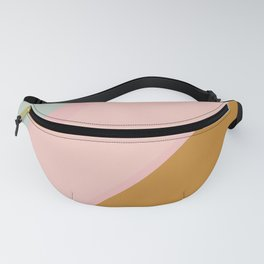 Abstract Painting in Muted Colors of Sage, Blush, and Gold Fanny Pack