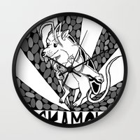 himym Wall Clocks featuring The Cockamouse by Jorge Daszkal