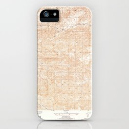 San Guillermo, CA from 1944 Vintage Map - High Quality iPhone Case