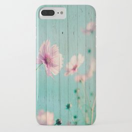 Sweet Flowers on Wood 07 iPhone Case