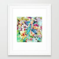 parrot Framed Art Prints featuring PARROT by RIZA PEKER