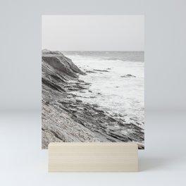 Coastal Cliffs Rocks Mini Art Print