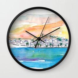 Ibiza Eivissa Port Tour At Sunset Wall Clock