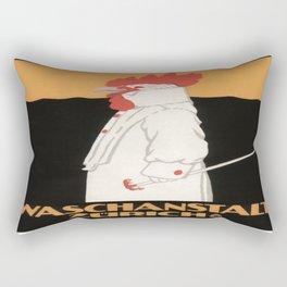 Vintage poster - Waschanstalt Zurich Rectangular Pillow