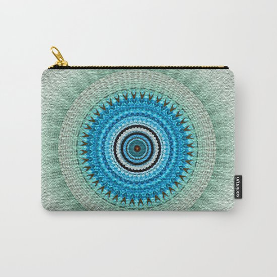 blue floral mandala Carry-All Pouch