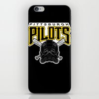pittsburgh iPhone & iPod Skins featuring Pittsburgh Pilots by Ant Atomic