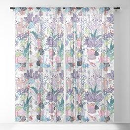 underwater pattern Sheer Curtain