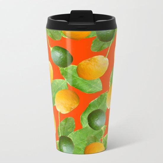 Lemons and Limes Metal Travel Mug