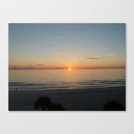 Sunrise View From Hotel Balcony In Daytona Beach, Florida Canvas Print