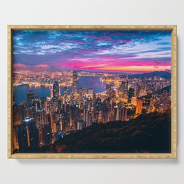 Sunset City (Color) Serving Tray